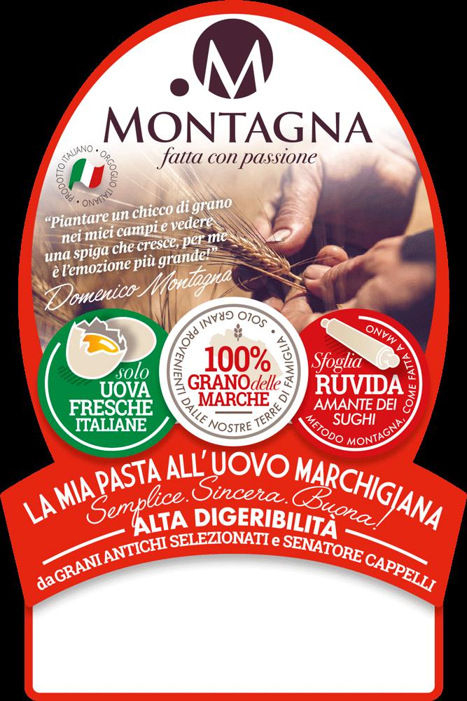 etichetta pasta montagna