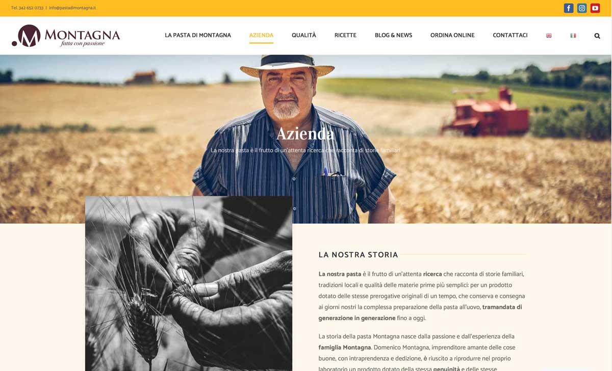 sito web schermata azienda